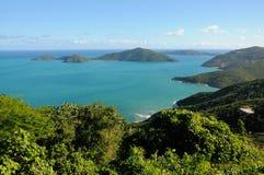 Mening van de kustlijn van Tortola Royalty-vrije Stock Foto's