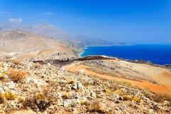 Mening van de lagune van de berg Royalty-vrije Stock Foto's