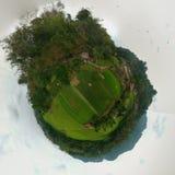 mening 360 van de Lemo-plaats van Toraja stock afbeelding