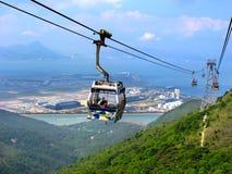 Kabelwagen in Lantau, Hong Kong Royalty-vrije Stock Foto