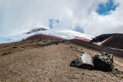 Mening van de majestueuze Cotopaxi-vulkaan Royalty-vrije Stock Foto's