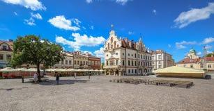 Mening van de markt in Rzeszow polen royalty-vrije stock afbeelding