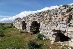 Mening van de Miletus de Oude Stad stock afbeelding