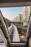 Mening van de Monorail onPalm Jumeirah Stock Foto