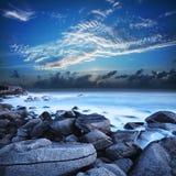 Mening van de mooie lagune Royalty-vrije Stock Afbeeldingen