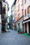 Mening van de mooie straten van de gevestigde stad van Stresa Royalty-vrije Stock Foto