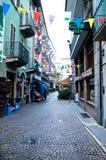 Mening van de mooie straten van de gevestigde stad van Stresa Stock Afbeelding