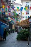 Mening van de mooie straten van de gevestigde stad van Stresa Stock Fotografie
