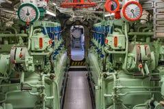 Mening van de motorruimte van het schip Royalty-vrije Stock Foto's