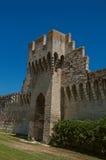 Mening van de muren en de torens rond het stadscentrum van Avignon Royalty-vrije Stock Foto