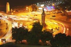 Mening van de nacht van Kaïro Stock Foto
