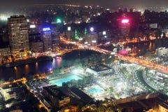 Mening van de nacht van Kaïro Royalty-vrije Stock Afbeelding