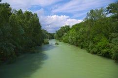 Mening van de Natisone-rivier Royalty-vrije Stock Foto's