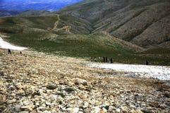 Mening van de Nemrut-berg stock foto's