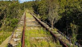 mening van de Noojee-Schraagbrug, Gippsland, Victoria, Australië stock fotografie