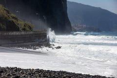 Mening van de Noordelijke kustlijn van Madera, Portugal, stock afbeeldingen