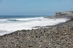 Mening van de Noordelijke kustlijn van Madera, Portugal, stock fotografie