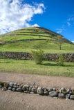 Mening van de oude Inca-ruïnes van Pumapungo Royalty-vrije Stock Fotografie