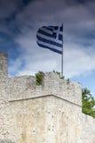 """Mening van de Oude Muur Amvrakia †""""Arta in Griekenland Royalty-vrije Stock Fotografie"""