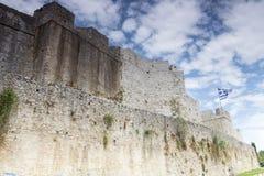"""Mening van de Oude Muur Amvrakia †""""Arta in Griekenland Royalty-vrije Stock Foto's"""
