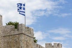 """Mening van de Oude Muur Amvrakia †""""Arta in Griekenland Royalty-vrije Stock Afbeeldingen"""