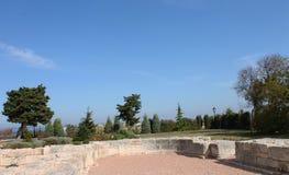 Mening van de oude oude stad in de Krim Stock Afbeelding