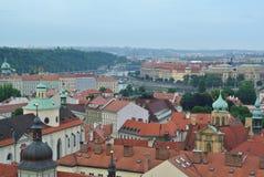 Mening van de oude stad Praag, Tsjechische Republiek royalty-vrije stock foto's