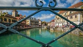 Mening van de oude stad van Annecy frankrijk Royalty-vrije Stock Afbeeldingen