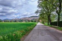 Mening van de oude stad van Assisi Royalty-vrije Stock Foto's