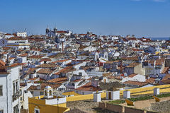 Mening van de oude stad van Elvas, Alentejo, Portugal Royalty-vrije Stock Afbeeldingen