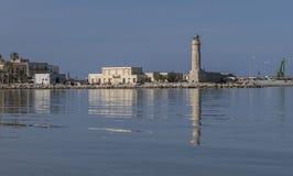 Mening van de oude Venetiaanse haven van Rethymno Royalty-vrije Stock Fotografie