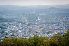 Mening van de Pagode op Horizonaandrijving, in Lezing, Pennsylvania royalty-vrije stock foto's