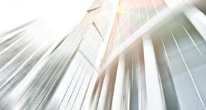 Mening van de panoramische en perspectief de brede hoek aan staal Stock Foto's