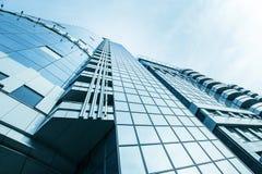 Mening van de panoramische en perspectief de brede hoek aan staal Stock Afbeeldingen