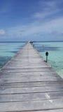 Mening van de pijler op de oceaan Royalty-vrije Stock Foto