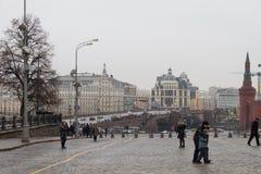 Mening van de plaats van de moord van politicus Boris Nemtsov royalty-vrije stock foto