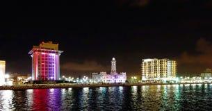 Mening van de promenade in haven van Veracruz in Mexico royalty-vrije stock afbeelding