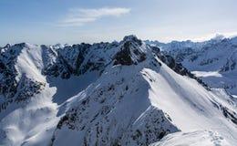Mening van de rand van het de winterlandschap stock foto's