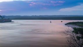 Mening van de rivier in Itacare Bahia royalty-vrije stock afbeeldingen