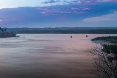 Mening van de rivier in Itacare Bahia royalty-vrije stock foto's