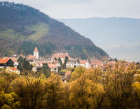 Mening van de Rivier van Donau in de Herfst Stock Afbeeldingen