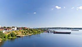 Mening van de rivier Volga stock fotografie