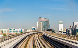 Mening van de Rode Metro lijn Royalty-vrije Stock Foto