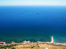 Mening van de rots van Gibraltar Stock Fotografie