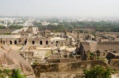 Ruïnes van Golcanda, India Royalty-vrije Stock Foto's