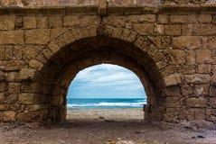 Mening van de ruïnes van het Roman aquaduct - 12 Stock Foto's