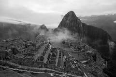 Mening van de ruïnes van Machu Picchu Inca in Peru Royalty-vrije Stock Foto's