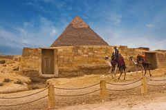 Mening van de Sfinx Egypte royalty-vrije stock foto's