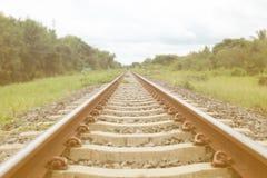 Mening van de Spoorweg van Thailand royalty-vrije stock fotografie