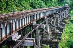 Mening van de spoorweg van Birma Royalty-vrije Stock Fotografie